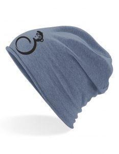 Sommer Mütze Blau Logo vorne
