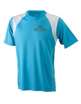 T-Shirt Männer Blau Vorne Dein Name Reflekt Trainingsoutfit